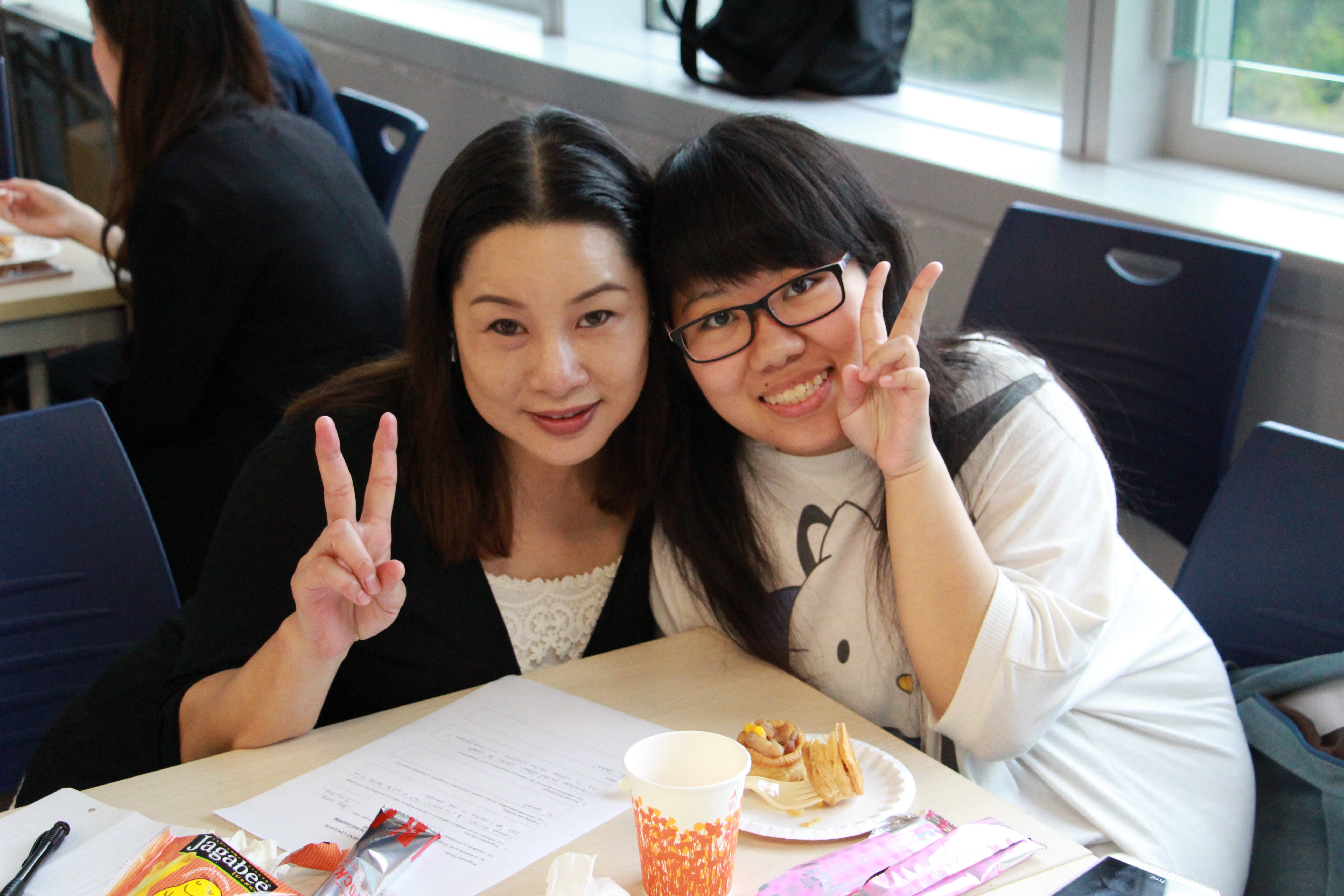 Photo of Ms. Amy Wong  and Hillary Yeung