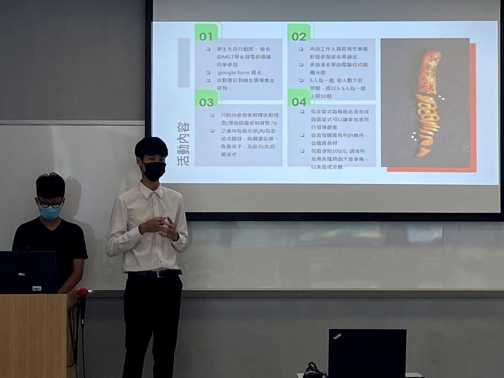 A Team from mgt students was presenting with remarkable slides.