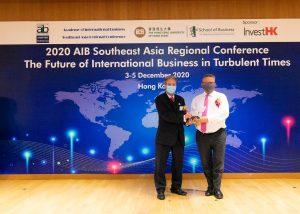 Dean BARNES presented an award to